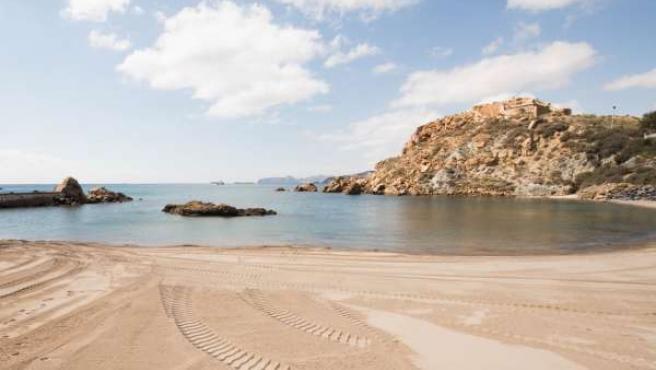 Playa Cala Cortina en Cartagena