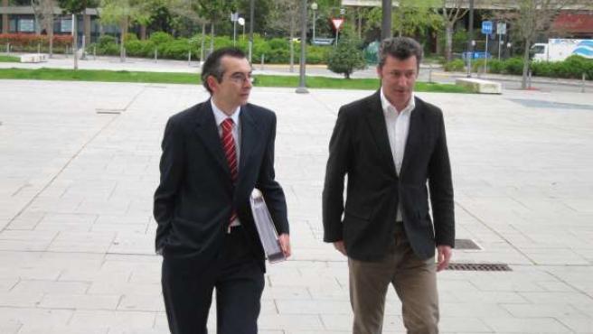 El exdiputado Santiago Cervera y Sergio Gómez.