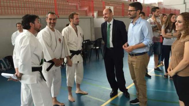 El secretario general JSA, José Carlos Durán, y Jorge Gallardo, regidor Cártama