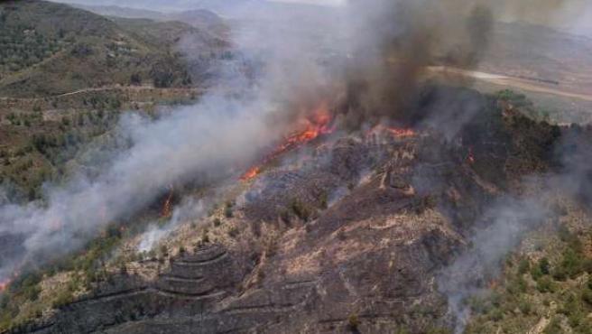 Incendio en Huércal-Overa (Almería)