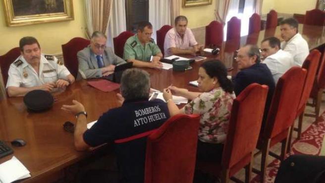 Reunión en la Subdelegación del Gobierno en Huelva