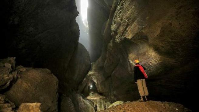 Una imagen de la Cueva Palomera, en Ojo Guareña (Burgos).