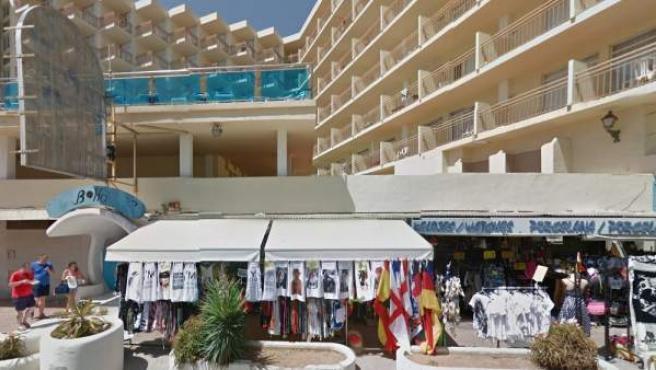 Imagen del hotel Piscis de la localidad ibicenca de Sant Antoni de Portmany.