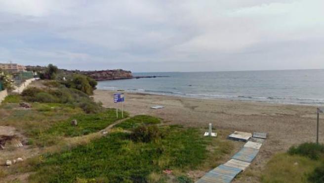 Imagen de la playa de Calarreona, en el municipio de Cartagena (Murcia).