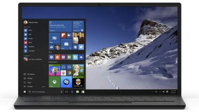 Imagen de un ordenador con el sistema operativo Windows 10.