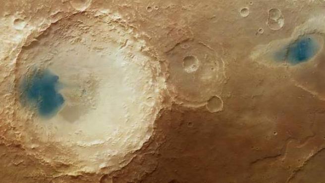 El orbitador Mars Express capta los efectos que el viento provoca en la superficie de Marte.