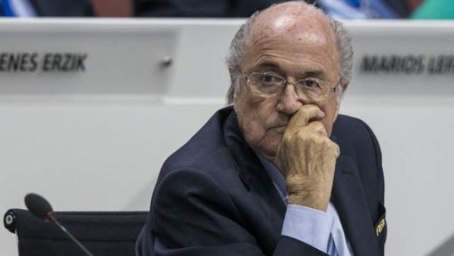 Joseph Blatter, en el último congreso de la FIFA en Zúrich.