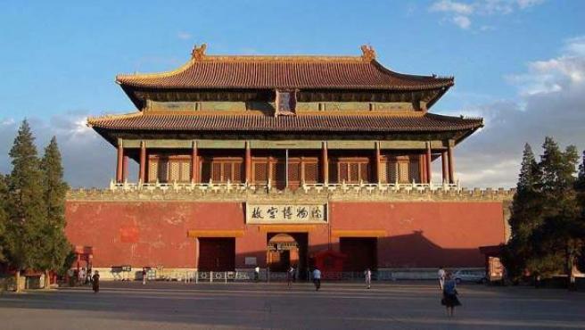 Una de las puertas de entrada al antiguo Palacio Imperial chino.