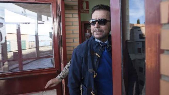 El diestro Ortega Cano, a su entrada en la cárcel de Zuera (Zaragoza).