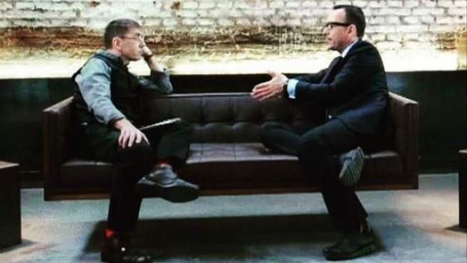 Risto Mejide entrevista a Juan Carlos Monedero en 'Al rincón de pensar'.