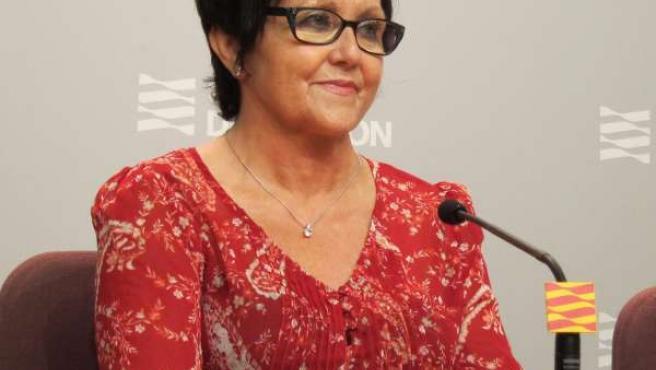 La alcaldesa de Peralta de Alcofea, Obdulia Gracia