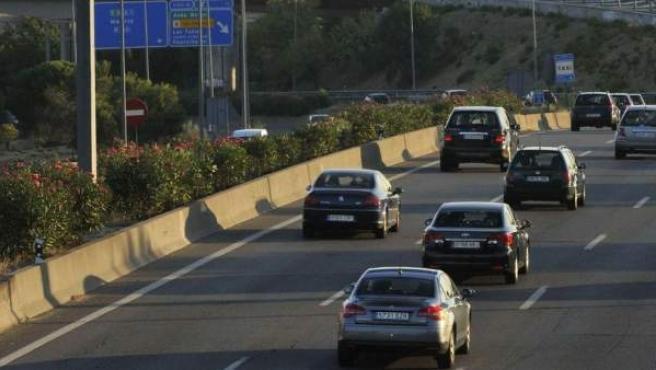 Tráfico en la carretera de Burgos dirección Madrid.