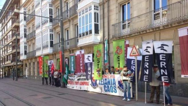 Protesta de la Ertzaintza