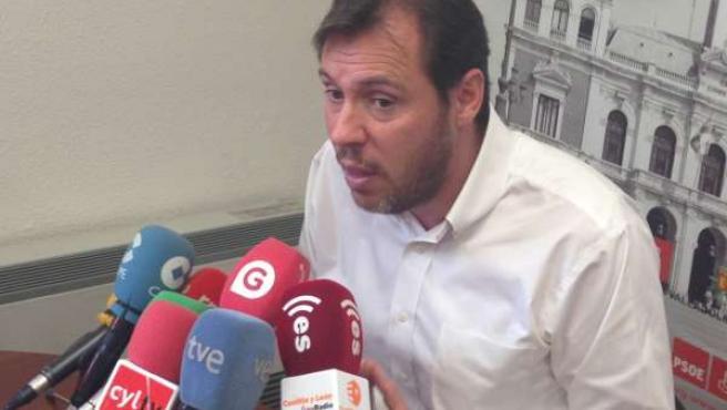 El candidato del PSOE a la Alcaldía de Valladolid, Óscar Puente