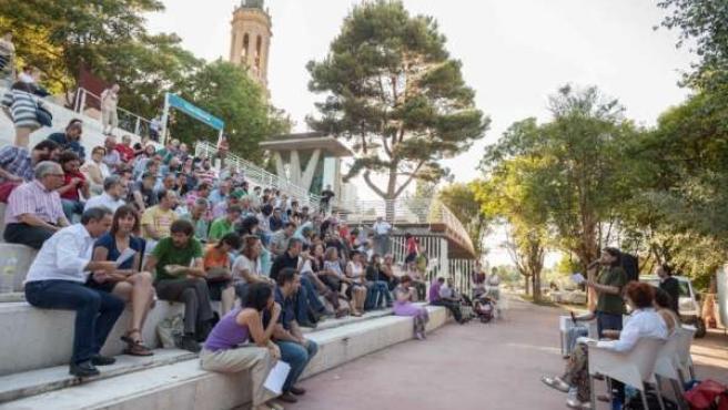 Reunión de Zaragoza en Común