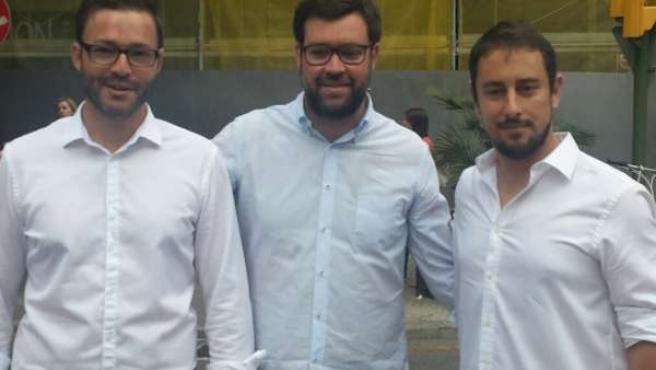 José Hila, Toni Noguera y Miquel Comas