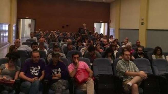 Imagen de la reunión de los Círculos de Podemos