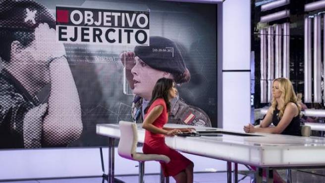 Zaida Cantera, en una entrevista en el programa 'El Objetivo'.