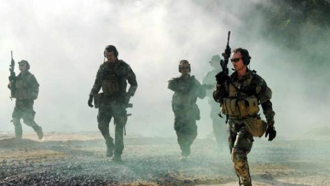 Una imagen de un comando de los Navy SEAL de los EE UU.