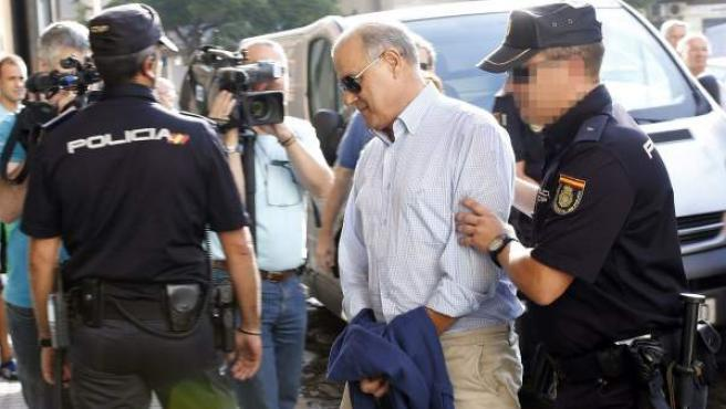 El exconsejero andaluz de Hacienda Ángel Ojeda, detenido en agosto de 2014 por un presunto fraude en los cursos de formación.