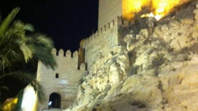 La Alcazaba de Almería, de noche