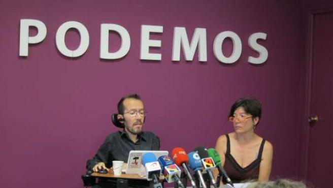 Pablo Echenique y Esther Moreno