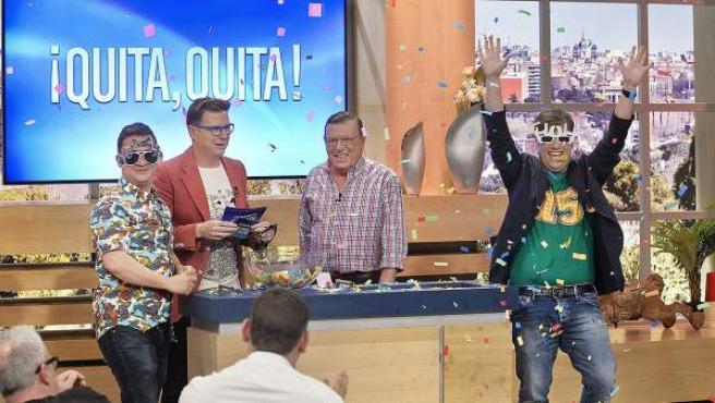 Una escena del programa de La 1 'Jugamos en Casa', que presentan Los Morancos.