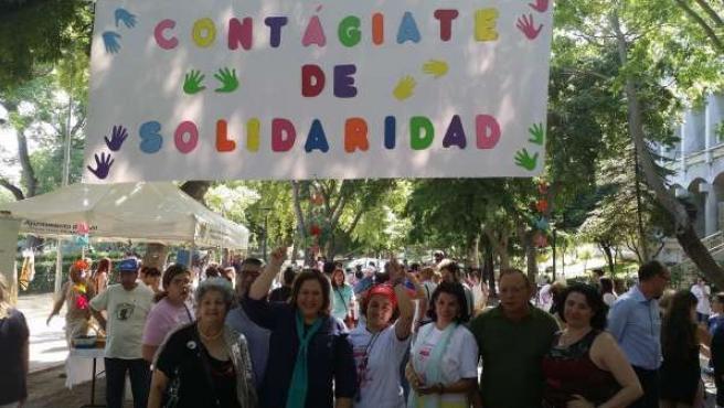 Ángeles Jiménez en la jornada de solidaridad con pacientes de Salud Mental