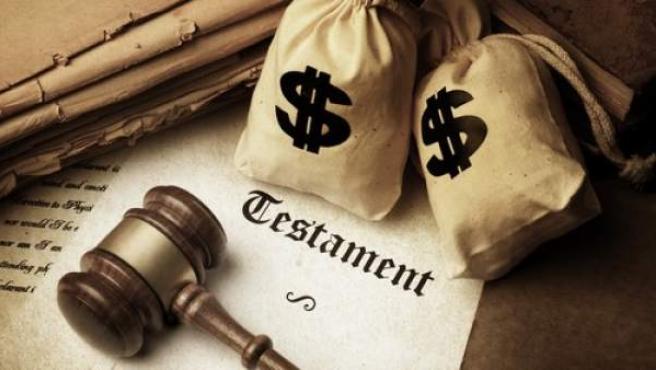 Imagen de un documento legal de testamento.