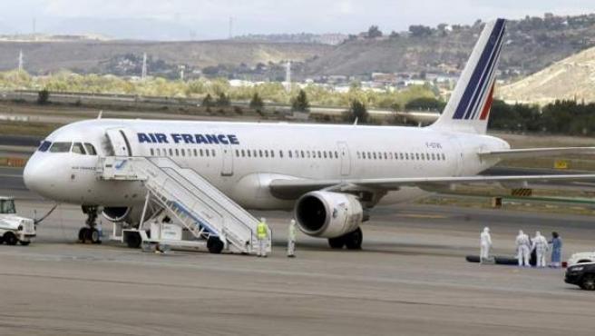 Imagen de archivo de un avión de Air France en el aeropuerto de Barajas.
