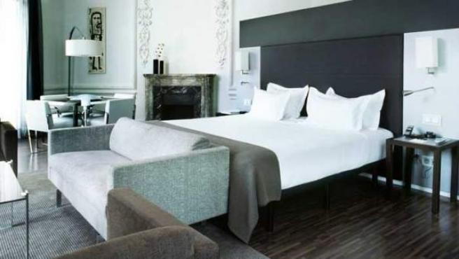 Imagen de la 'suite' de un hotel.