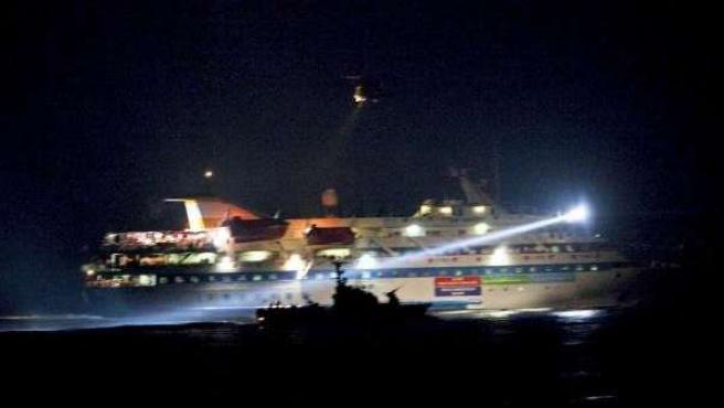 Imagen de archivo del asalto a la flotilla humanitaria.