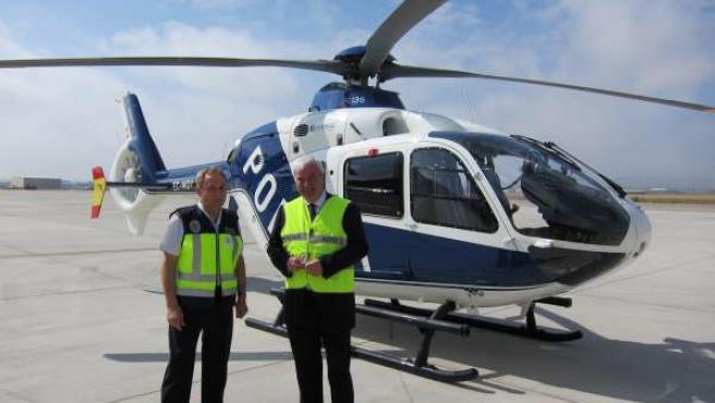 Presentación del helicóptero de la Jefatura Superior de Policía de Aragón