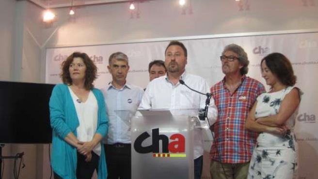 Rueda de prensa de CHA tras el Consejo Nacional.