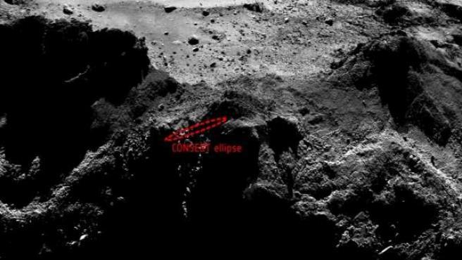 Imagen que podría mostar el desaparecido aterrizador Philae.
