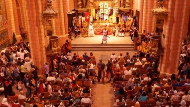 Uno de los actos de las Alfonsadas 2014, en San Pedro de los Francos