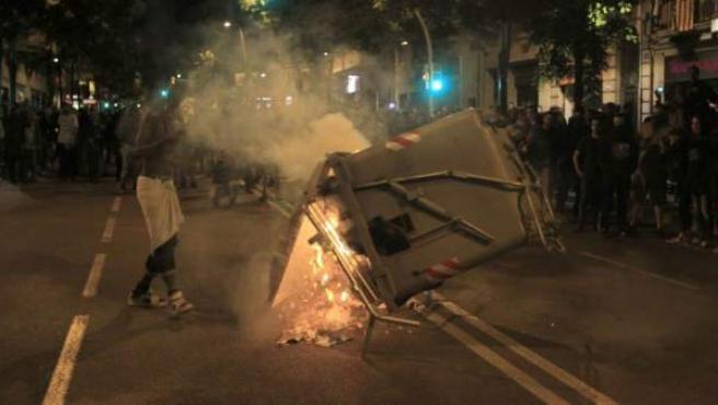 Disturbios en Barcelona, en una imagen tomada en mayo de 2014.