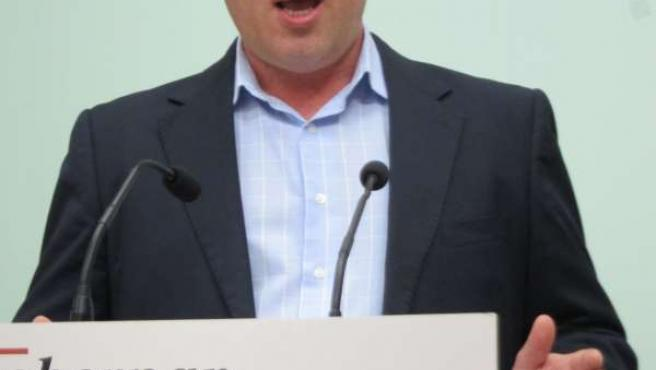 Antonio Ruiz en la sede del PSOE de Córdoba