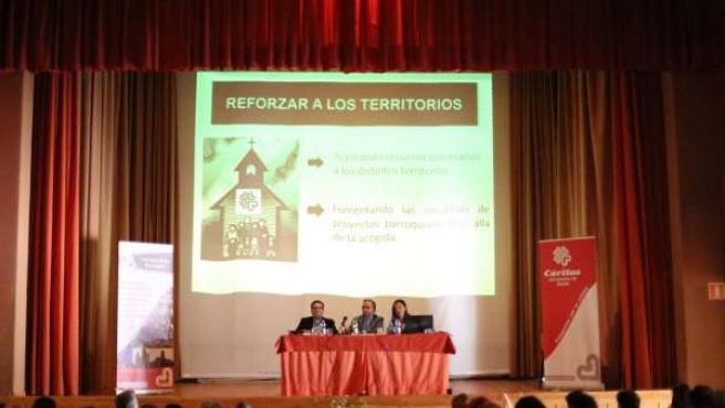 Momento de la asamblea bienal de Cáritas