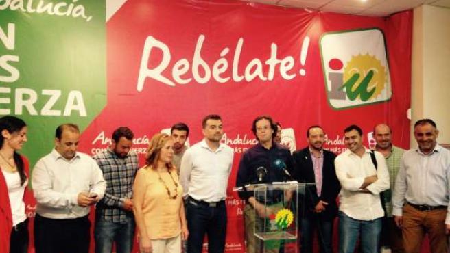 Antonio Maíllo y alcaldes de IU en Granada