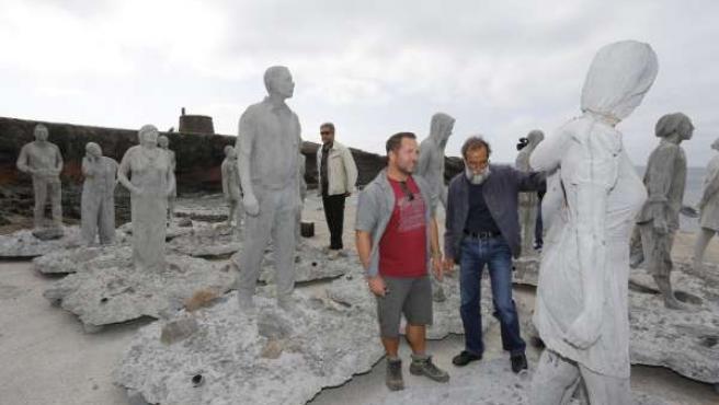 Esculturas de Jason deCaires Taylor,que formarán el Museo Atlántico de Lanzarote