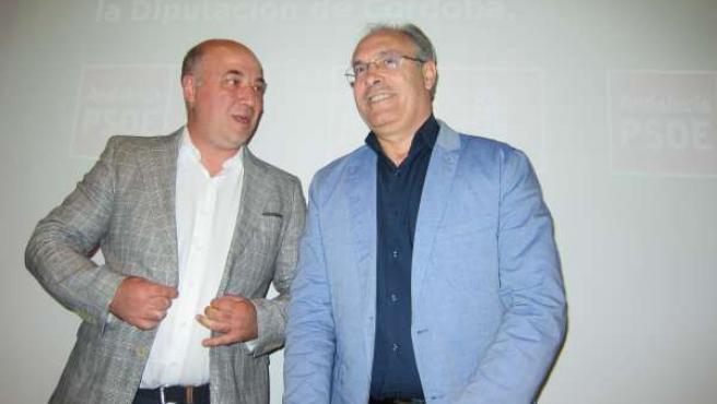 Ruiz junto al secretario general del PSOE cordobés, Juan Pablo Durán