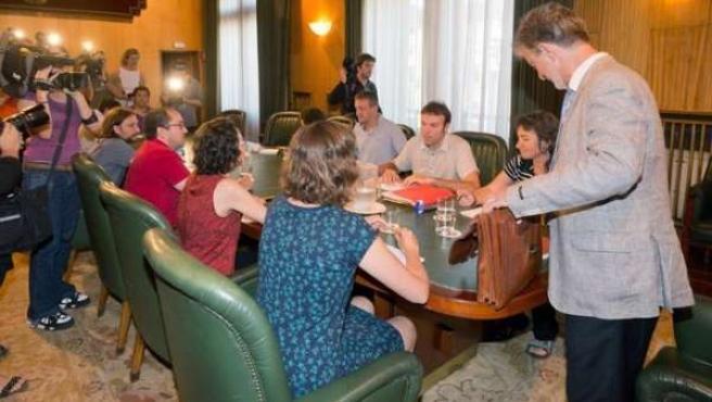 Primera reunión del Gobierno de Zaragoza