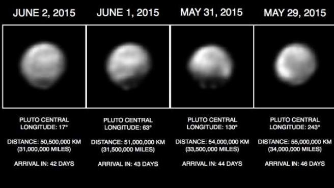 New Horizons muestra las diferentes caras de Plutón en unas nuevas imágenes.
