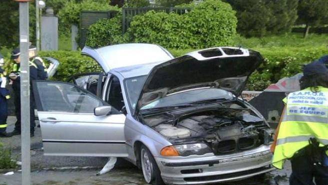Estado en el que quedó el vehículo en el que viajaba Marcos Alonso.
