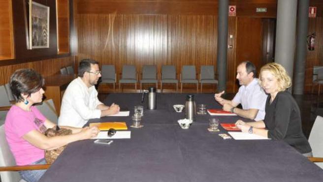 Reunión entre IU y Podemos este miércoles en las Cortes de Aragón