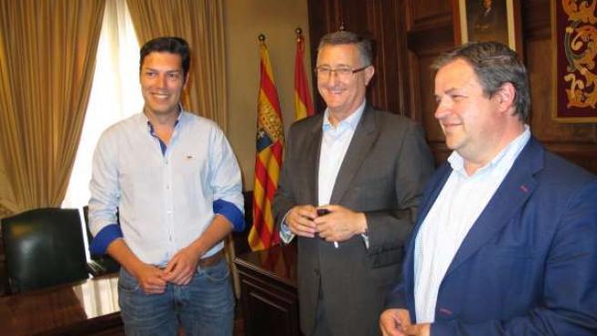 Javier Domingo, Manuel Blasco y Jesús Fuertes, del Ayuntamiento de Teruel