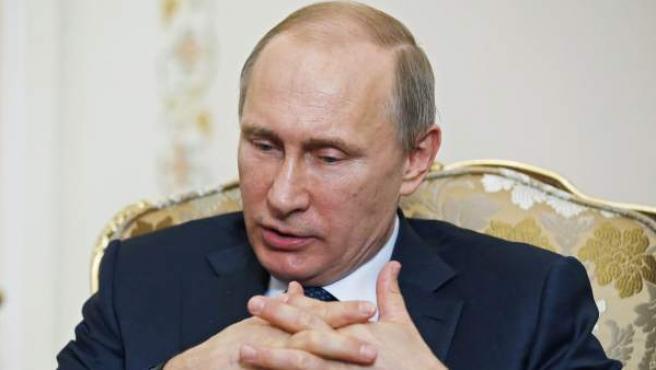 El presidente ruso, Vladímir Putin, en la residencia de Novo-Ogaryovo en las afueras de Moscú (Rusia).