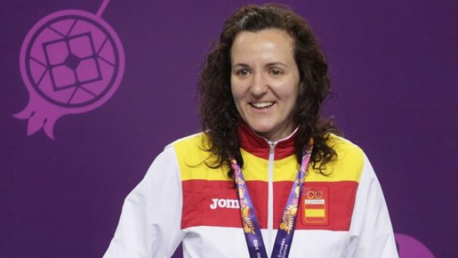 Sonia Franquet, plata en pistola, logra la segunda medalla del tiro español en los Juegos Europeos de Bakú.