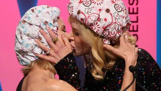 El reivindicativo beso de Nicole Kidman y Naomi Watts.
